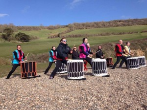 Tano Taiko at the Grizzly @ Branscombe Beach | Branscombe | England | United Kingdom